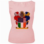 Half Irish American Crest (2) Women s Pink Tank Top