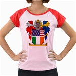Half Irish American Crest (2) Women s Cap Sleeve T-Shirt
