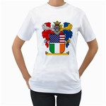 Half Irish American Crest (2) Women s T-Shirt