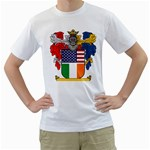 Half Irish American Crest (2) White T-Shirt