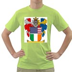 Half Irish American Crest (2) Green T-Shirt