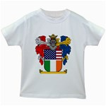 Half Irish American Crest (2) Kids White T-Shirt