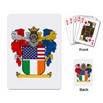 Half Irish American Crest (2) Playing Cards Single Design