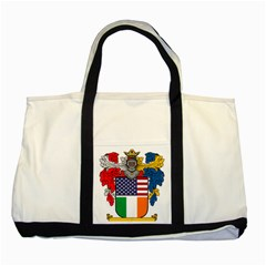 Half Irish American Crest (2) Two Tone Tote Bag from ArtAttack2Go Front