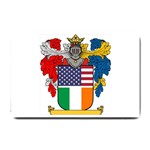 Half Irish American Crest (2) Small Doormat