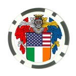Half Irish American Crest (2) Poker Chip Card Guard