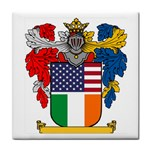 Half Irish American Crest (2) Face Towel