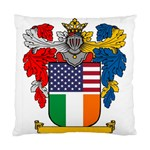 Half Irish American Crest (2) Cushion Case (Two Sides)