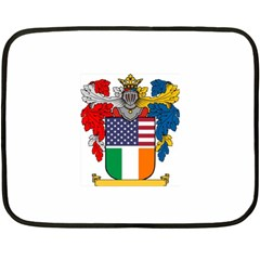 Half Irish American Crest (2) Mini Fleece Blanket(Two Sides) from ArtAttack2Go 35 x27 Blanket Front