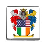 Half Irish American Crest (2) Memory Card Reader with Storage (Square)