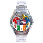 Half Irish American Crest (2) Stainless Steel Analogue Men's Watch