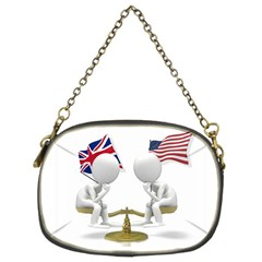 Heritage American/British Chain Purse (Two Sides) from ArtAttack2Go Front