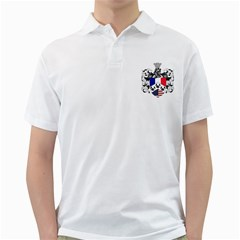 Half France American Crest Golf Shirt from ArtAttack2Go Front