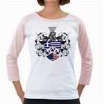 Half Greece American Crest (2) Girly Raglan