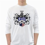 Half Greece American Crest (2) Long Sleeve T-Shirt