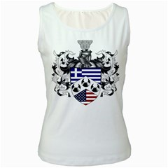 Half Greece American Crest (2) Women s Tank Top from ArtAttack2Go Front