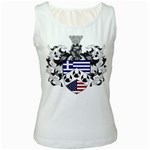 Half Greece American Crest (2) Women s Tank Top