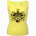 Half Greece American Crest (2) Women s Yellow Tank Top