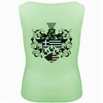 Half Greece American Crest (2) Women s Green Tank Top from ArtAttack2Go Back