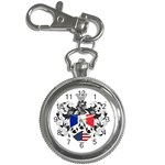 Half France American Crest Key Chain Watch