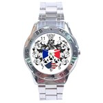 Half France American Crest Stainless Steel Analogue Men's Watch