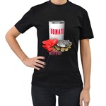 Donation Time Money Heart 1600 Clr Women s Black T Front