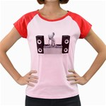 Dj Mixing Turntables 1600 Clr Women s Cap Sleeve T-Shirt