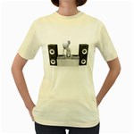 Dj Mixing Turntables 1600 Clr Women s Yellow T-Shirt