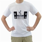 Dj Mixing Turntables 1600 Clr White T-Shirt