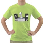 Dj Mixing Turntables 1600 Clr Green T-Shirt