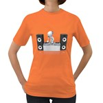 Dj Mixing Turntables 1600 Clr Women s Dark T-Shirt