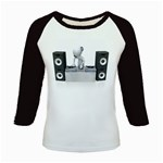 Dj Mixing Turntables 1600 Clr Kids Baseball Jersey