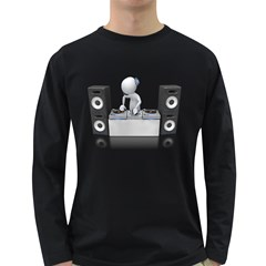 Dj Mixing Turntables 1600 Clr Long Sleeve Dark T Front