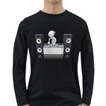 Dj Mixing Turntables 1600 Clr Long Sleeve Dark T-Shirt