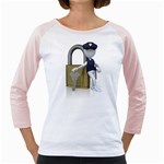 Security Lock Stick Figure 1600 Clr Girly Raglan from ArtAttack2Go Front