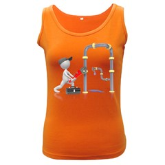 Plumber Pipes Pc 1600 Clr Women s Dark Tank Top from ArtAttack2Go Front