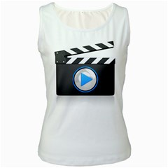 Media Video Icon Pc 1600 Clr Women s Tank Top from ArtAttack2Go Front