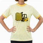 Forklift Pallet Box Pc 1600 Clr Women s Fitted Ringer T-Shirt