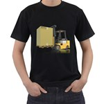 Forklift Pallet Box Pc 1600 Clr Black T-Shirt (Two Sides)