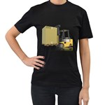 Forklift Pallet Box Pc 1600 Clr Women s Black T-Shirt (Two Sides)