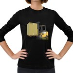 Forklift Pallet Box Pc 1600 Clr Women s Long Sleeve Dark T-Shirt