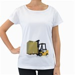 Forklift Pallet Box Pc 1600 Clr Maternity White T-Shirt