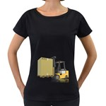 Forklift Pallet Box Pc 1600 Clr Maternity Black T-Shirt