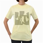 Eye Bg Women s Yellow T-Shirt