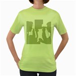 Eye Bg Women s Green T-Shirt
