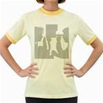 Eye Bg Women s Fitted Ringer T-Shirt