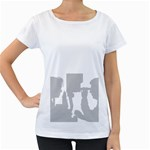 Eye Bg Maternity White T-Shirt