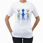 Three Way Hand Shake Pc 1600 Clr Women s T-Shirt