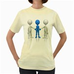 Three Way Hand Shake Pc 1600 Clr Women s Yellow T-Shirt