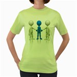 Three Way Hand Shake Pc 1600 Clr Women s Green T-Shirt